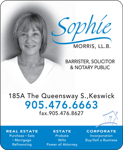 Sophie Morris LL.B Barrister Solicitor & Notary Public